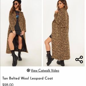 New with tag pretty little things leopard coat